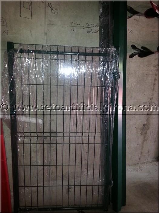 Puerta valla metalica precio fabulous jardn cercado con - Valla metalica precio ...